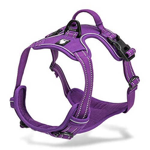 Chai's Choice Best Outdoor Adventure Dog Harness (Purple Small) Please Measure Carefully Before Ordering