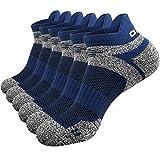 Abida 6 paia di calze sportive da corsa per uomini e donne imbottite caviglia trainer calz...