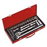 Sealey AK693 1/2-inch Square Drive Metric 6-Point Socket Set with 32 pieces