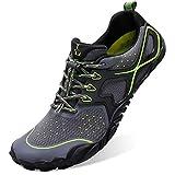 L-RUN Summer Water Shoes Men Sport Running Shoes Grey Women_16.5, Men_14.5 M US