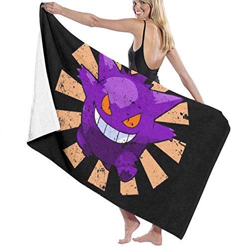 MasakoJMassie Monster of The Pocket Gengar Retro Japonesa La Toalla Unisex Ligero De Secado Rápido Toalla De Ducha Toalla De Playa