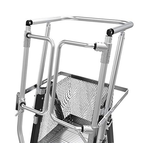 Little Giant Ladders, Adjustable Safety Cage, 5-9 foot, Safety Cage, Fiberglass, Type 1AA, 375 lbs weight rating, (18509-240)