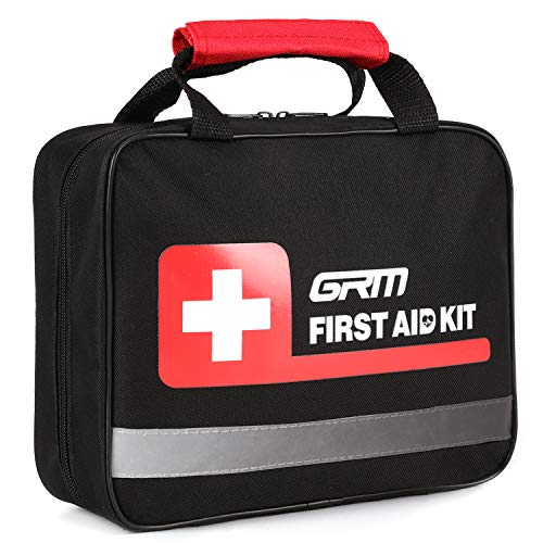 GRM Upgraded 465 Pieces First Aid Kit for Businesses Emergency at Home, Office, Outdoors, Car, Camping, Workplace, Hiking and Survival