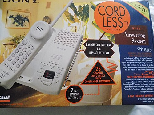 Sony Cordless Telephone with Answering System SPP-AQ25