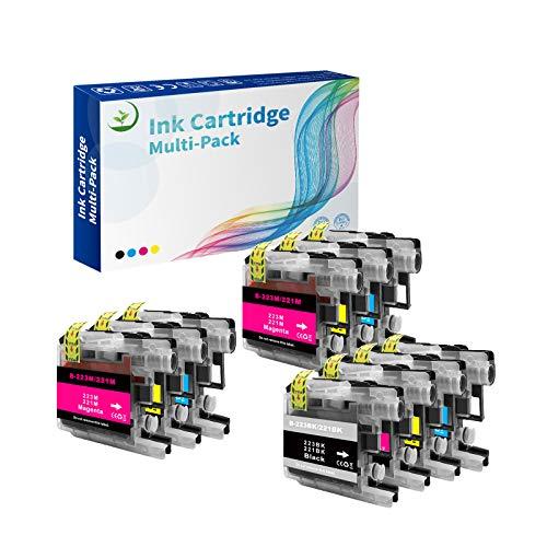 Top Fresh 10 cartuchos de tinta compatibles con LC223 LC-223 MFC-J480DW DCP-J562DW MFC-J4420DW DCP-J4120DW MFC-J5320DW J880DW J680DW J4620DW J4625DW