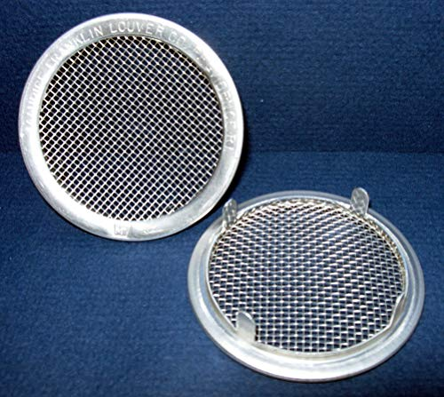 2' Round Open Screen Vent - tab Style - Mill - Pkg of 6