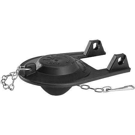 Perfect Seal. Tank Toilet Mizer Flapper Rubber Black Adjustable Water Saver