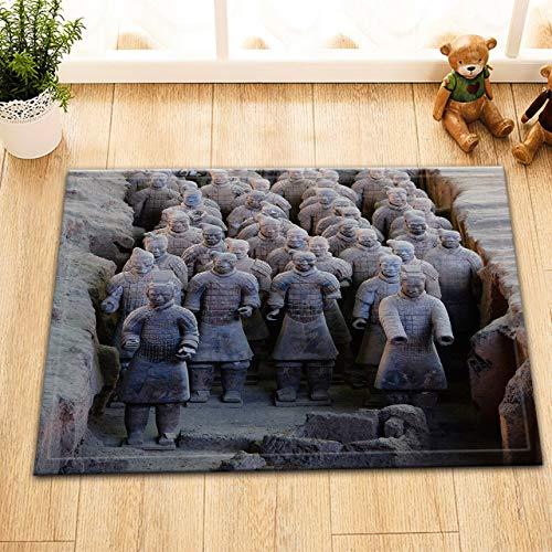 123456789 Stoff Duschvorhang Ancient Terracotta Warrior Wasserdichtes Badezimmerzubehör