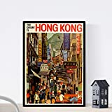 Vintage Poster Nacnic. Vintage Poster Asien. Reise nach