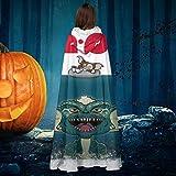 AISFGBJ 1200 am Gremlins Jaws Póster Unisex Navidad Halloween Bruja Caballero con capucha Albornoz...