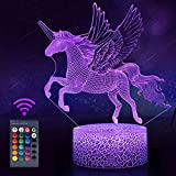 Koicaxy Unicorn Night Light for Kids, LED 3D Night Light Bedside Lamp with...
