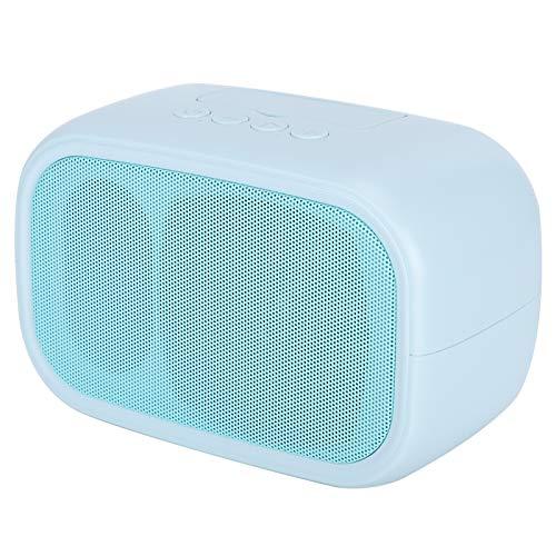 Altavoz inalámbrico, Altavoz Bluetooth 5.0 Bluetooth, Altavoz de graves de doble altavoz para el hogar del dormitorio del viaje(blue)