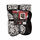 """Disney Nightmare Before Christmas Jack Skellington Expressions Luxury Multi-Functional Pet Throw Blanket/Portable, Dog Mat/Cat Mat, 30""""x40"""", Collector's Edition, Grey (DIS-PTB-NBC-JTO-3040)"""