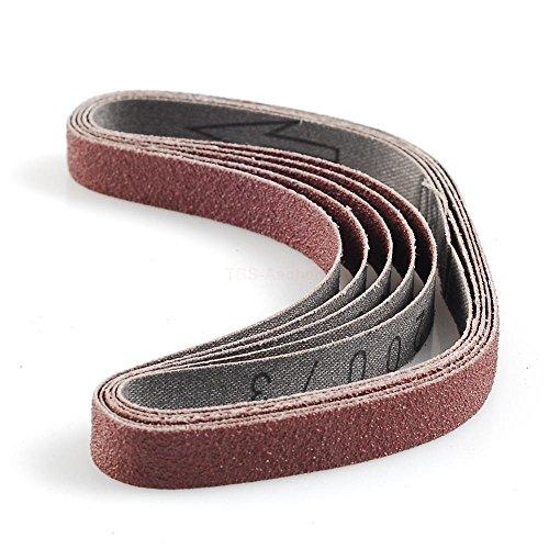 PROXXON 28583 Schleifbänder für BSL, Edelkorund, 5 Stück, Korn 80