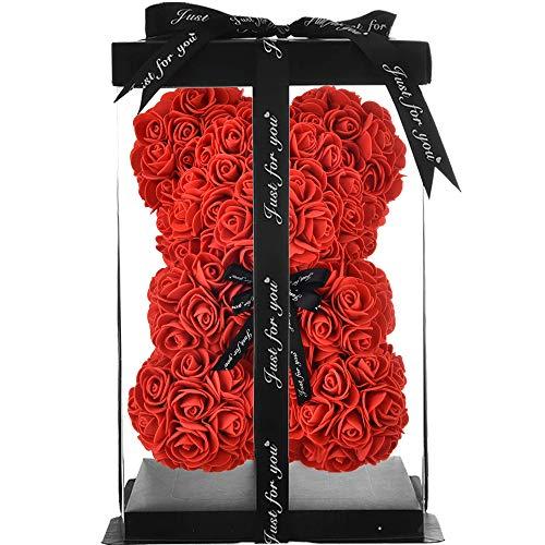 Rosen Teddybär rosen Bär Geschenke für Mutter Frauen Ihre Teen Girls Geschenke Jubiläum Mutter Geschenke,rosenbär Teddybär Rose Blumen Valentinstag teddy infinity ewige- rosenbär mit geschenkbox (rot)