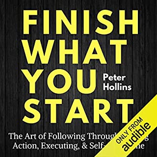 Finish What You Start audiobook cover art