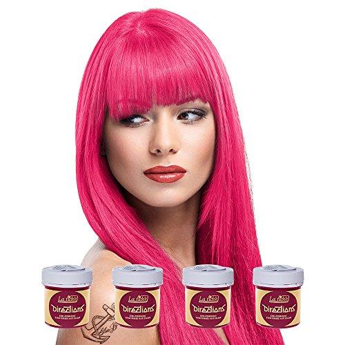 4 x LaRiche Directions Haartönung flamingo pink 88 ml