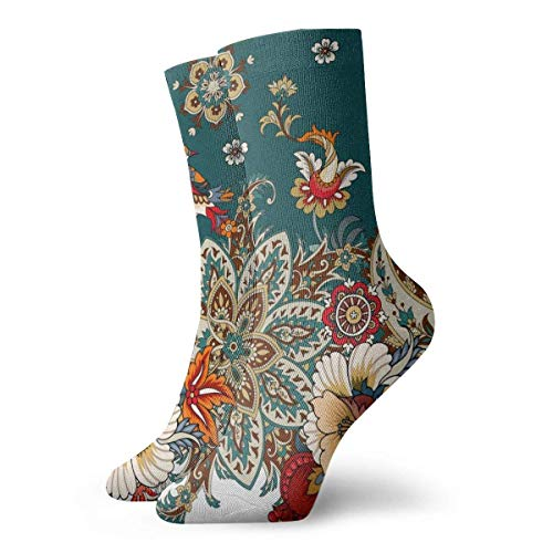 Love girl Herren Damen Crew Socken Paisley & Blumen Mode Neuheit Dry Athletic Socken Strümpfe 30cm
