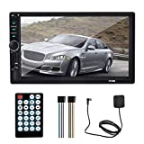 Mavis Laven Digital Media Car Stereo 7 Pulgadas 2 DIN Car MP5 Radio Multimedia GPS En el Tablero de navegación Estéreo del Coche con Bluetooth