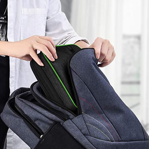 JESWO Kabeltasche, Doppelte Schichte Elektronik Organizer Tasche und Kabel Organizer für Kabel, SD-Karten, Festplatte, Power Bank, iPad Mini (bis zu 7,9 Zoll) – Schwarz