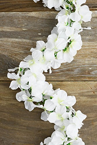 Richland White Silk Hydrangea Chained Garland