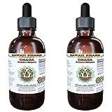 Chaga Alcohol-Free Liquid Extract, Chaga (Inonotus obliquus) Whole Mushroom Dried Glycerite 2x2 oz