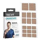TRUETAPE® - Crosstape / cerotti a griglia - 130 pezzi   adesivo extra robusto resistente all'acqua   cerotto originale per agopuntura