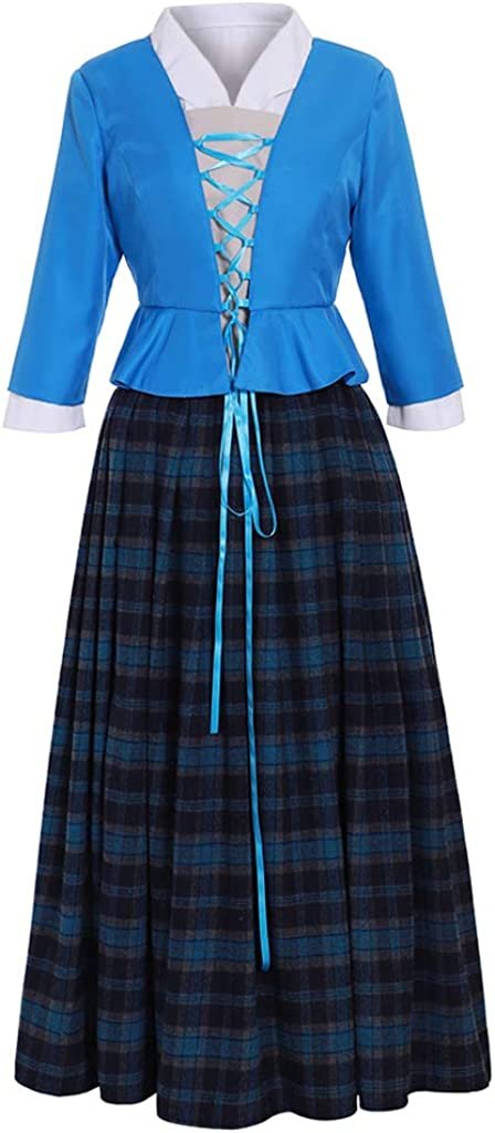 Women's Scottish Highland Dress Outstanding Claire Fraser Max 71% OFF Cosplay Costume Dr