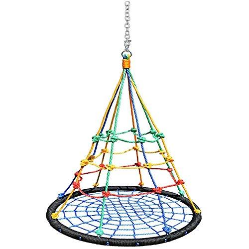Zryh Swing Nid d'oiseau, Suspendu Arbre Siège de balançoire avec des hauteurs Corde réglable, FAUTEUILS, Enfants Ensemble for l'intérieur Balancez Jardin Aire de Jeux, Capacité 200 kg