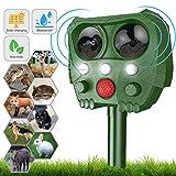 Cat Repellent,Sinohrd Waterproof Ultrasonic Animal Pest Repeller Usb Solar Powered Fox Deterrent Cat