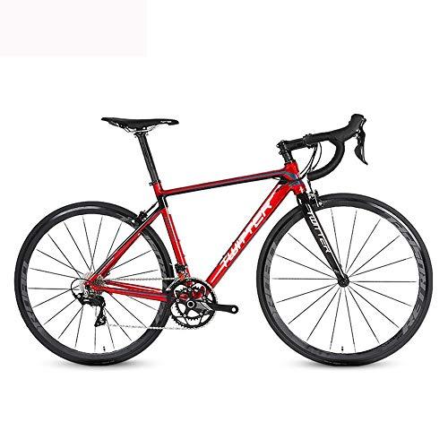 LXYDD Bicicleta De Carretera Aleación De Aluminio R3000-18 Velocidad Curva Manillar Bicicleta De Carretera Hombres Y Mujeres Ciclismo De Carreras,46cm
