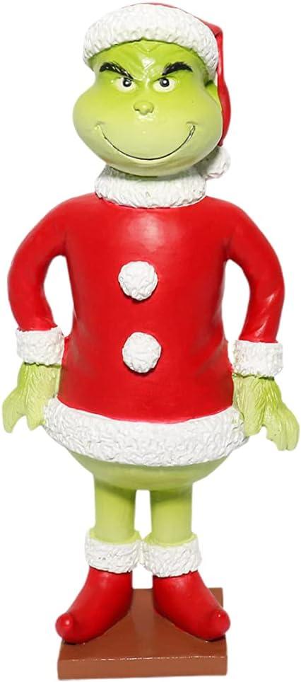 Muñecos De Navidad Grinch, 12cm Figura De Anime Cómo El Grinch Robó La Figura De Dibujos Animados De Navidad Colección De Estatuas Regalos Navidad Cumpleaños Regalo para Niños