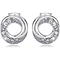 CDE Hypoallergenic White Gold Plated Earrings Studs