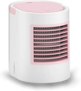 High Velocity Personal Fans Portable Fan Rechargeable USB Air Cooling Fan Small Desk Fan,Mini,Portable (Color : Pink)