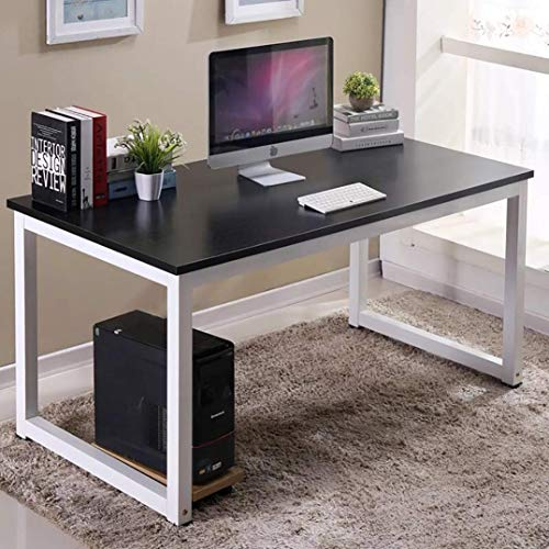 Huisen Furniture Modern Office Computer Desk Table Black Simple Student Study Writing Desk Gaming Table