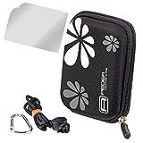 PEDEA Hardcase Kameratasche für HP PhotoSmart E317 / Nikon Coolpix P310 / Canon PowerShot SX610 HS, SX710 HS / Samsung WB35F
