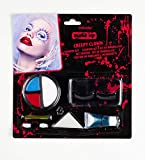 amscan- Make-Up Set 9901249 Creepy Clown, 8 Piezas, muñeca, Juego, Colores, Maquillaje, Carnaval, Ha...
