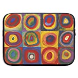 Owmousp Abstract Art Squares 13-15 Inch Laptop Sleeve Bag Printing Neoprene Carrying Bag