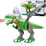 Liberty Imports Mist Spraying Robot Dragon Toy - Walking Dinosaur Fire Breathing Water Spray with Lights & Realistic Sounds (Assorted Color)