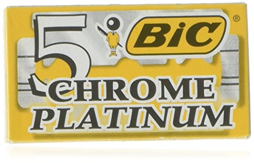 Bic Chrome Platinum Rasierklingen, doppelt, 10 Stück