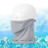 PONTAPES(ポンタペス) フェイスガード 接触冷感 涼しい ひんやり フェイスカバー PAA-75 モク FREE ランニング ウォーキング バフ ひんやり 洗える あらえる 涼しい