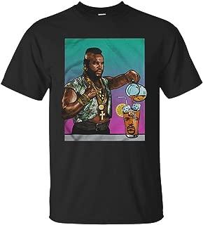 Mr T Drinking Iced Tea Ice Cube Shirt Men T-Shirt (M, Black)