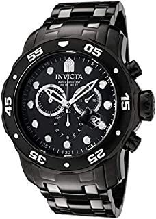 Invicta Pro Diver Men's Black Dial Stainless Steel Band Watch - 0076