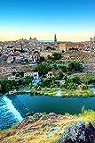 MX-XXUOUO Un Rompecabezas con el Tema de Las Atracciones turísticas del Mundo-Toledo España Ríos Casas Ciudades,Recuerdos Especiales de Viaje,1000 Piezas,29.5'x19.7'