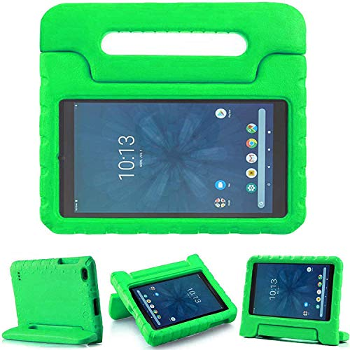 """Golden Sheeps Kid Friendly Case Compatible for Walmart onn. 8"""" Tablet 2020 (Model: 100011885) / 2019 (Model ONA19TB002) Shockproof Ultra Light Weight Convertible Handle Stand Cover (Green)"""