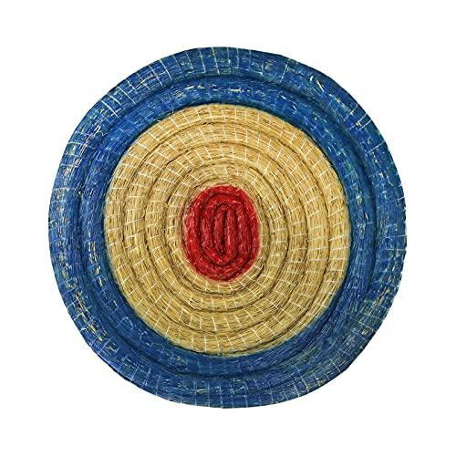 Ronda de paja disco Deluxe - diámetro de 80 cm | Espesor: 8 cm | Colour: azul-rojo