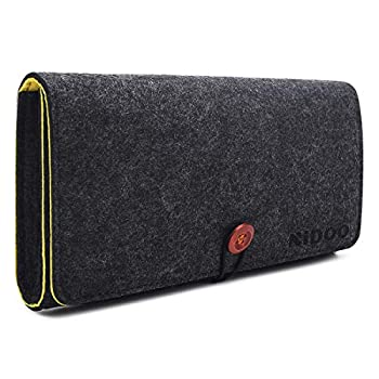 """NIDOO Portable Felt Storage Bag Travel Soft Electronics Accessories Protective Carrying Case Pouch Handheld Game Console Playstation Portable Compatible with Nintendo Switch or Other 5"""" PSP  US"""