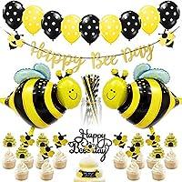 Honey Bee Party Decorations: Les kits contiennent des fêtes très mignonnes telles que fête de naissance, fête d'anniversaire, révélation de genre, fête d'école, fête en classe, fête de remise des diplômes et autres activités de célébration. Le forfai...