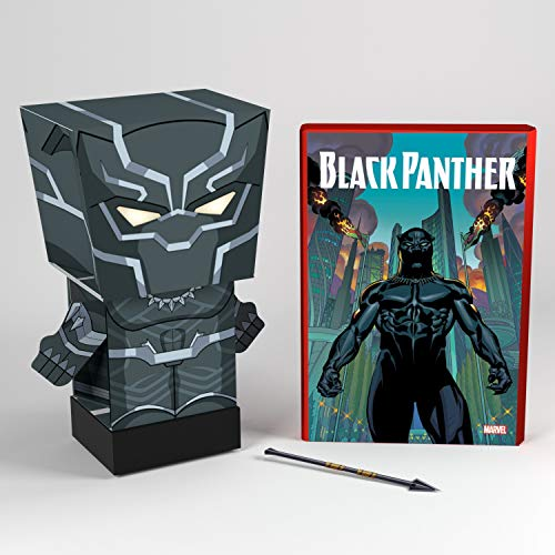 Far Out Toys Black Panther Toy - Marvel Pulp Heroes - Collectible Snap Bots - Comic Book Packaging