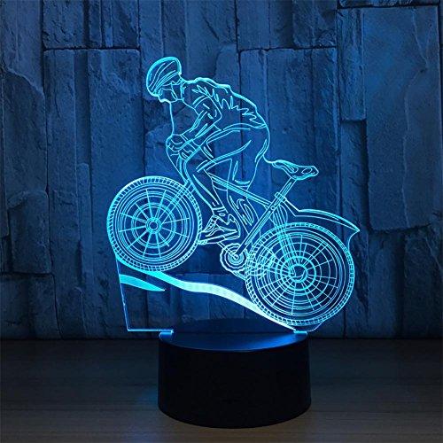 baby Q LED 3D Lampe, Lumières tactiles colorées, lumières créatrices acryliques de Gradient, lumières actionnées par USB